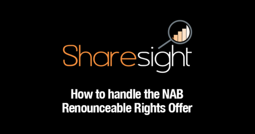 NAB renounceable rights offer - featured