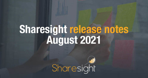 Sharesight Release Notes August 2021