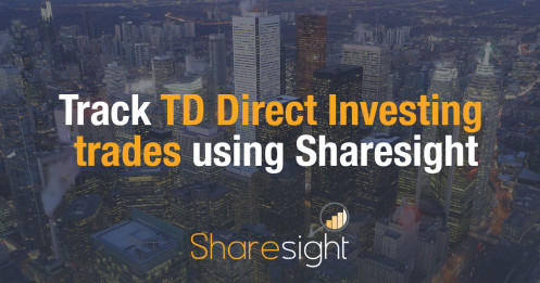 Track TD Direct Investing trades using Sharesight