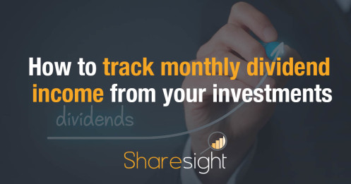How to track monthly dividend income from your investments