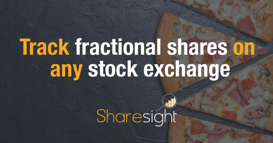 track fractional shares stock exchange