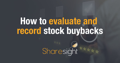 How to evaluate and record stock buybacks
