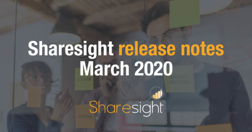 Sharesight release notes March 2020