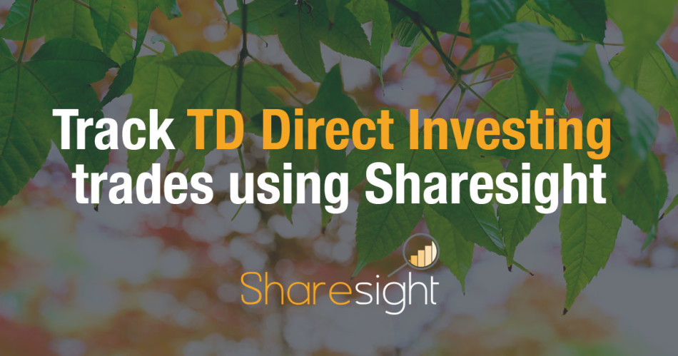 Track TD direct investing trades