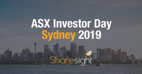 ASX Investor Day Sydney
