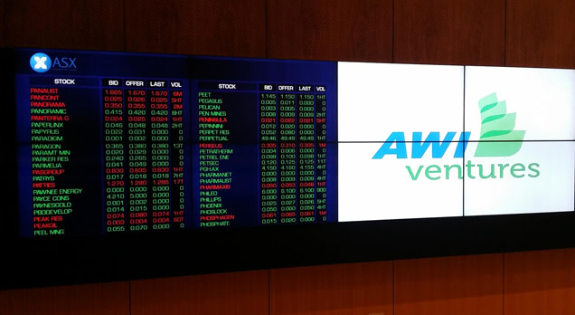 ASX Ticker & AWI Logo