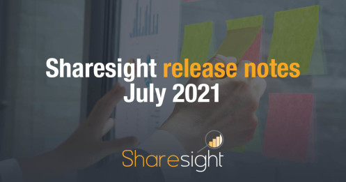 Sharesight Release Notes July 2021