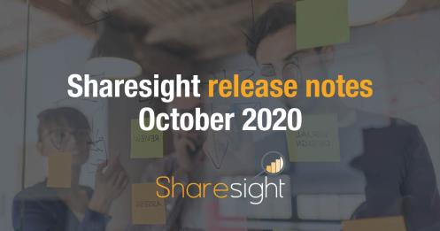 Sharesight release notes October 2020