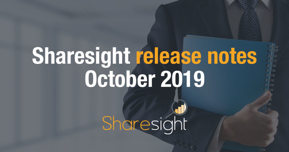 Sharesight Release Notes October 2019