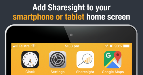Featured - Add Sharesight to your smartphone or tablet home screen