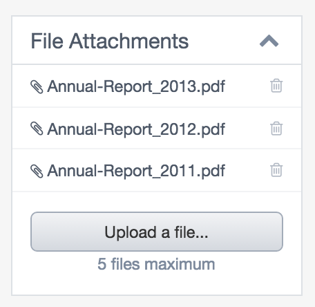 File Attachments – View within Holding