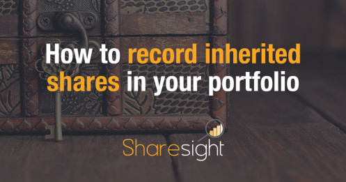 How to record inherited shares in your portfolio