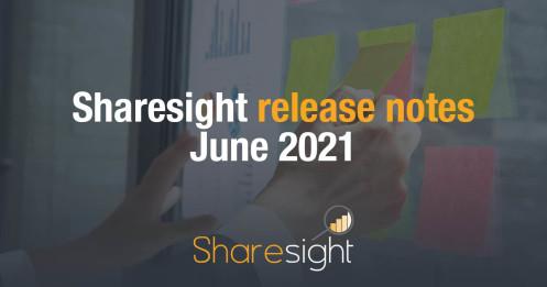 Sharesight Release Notes June 2021