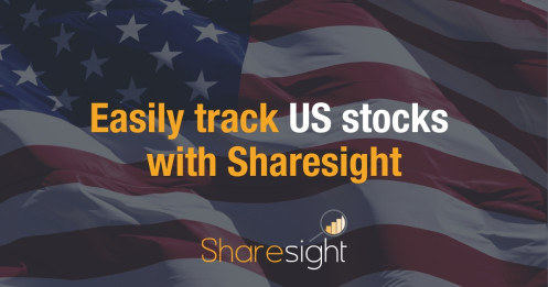 Track US stocks with Sharesight