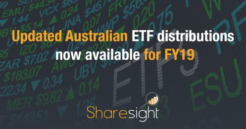 Updated Australian ETF distributions now available for FY19