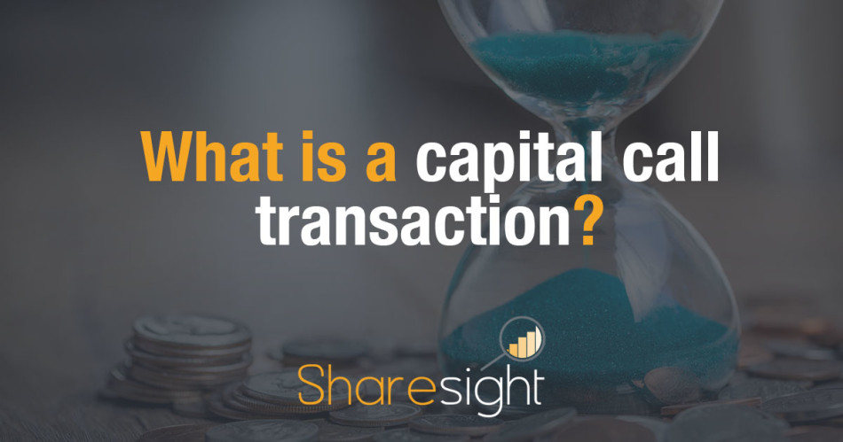 capital call transaction