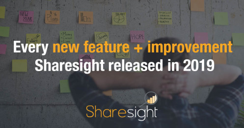 Every new feature + improvement Sharesight released in 2019