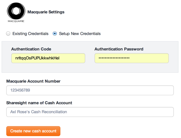 Sharesight: Macquarie Settings