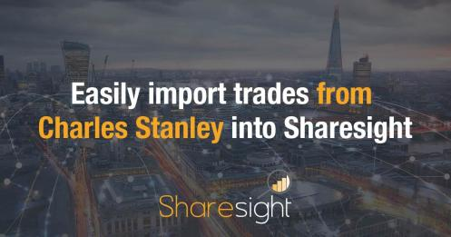 Sharesight Charles Stanley trades