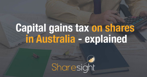 Capital gains tax on shares in Australia