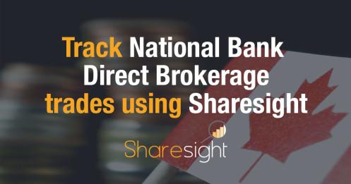 Track National Bank Direct Brokerage NBDB stock trades