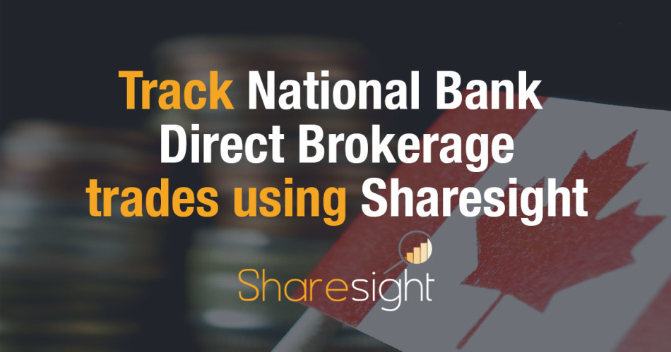 Track National Bank Direct Brokerage NBDB stock trades
