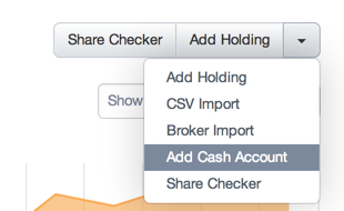 Sharesight: Add Cash Account