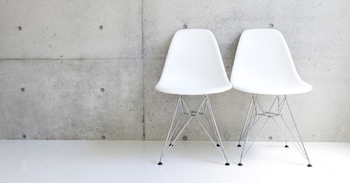 featured - chairs: two white
