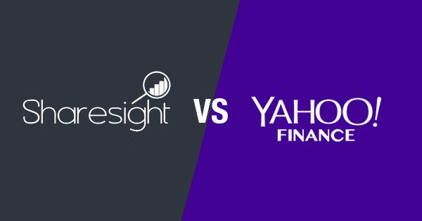 Yahoo Finance vs Sharesight -- comparing portfolio trackers