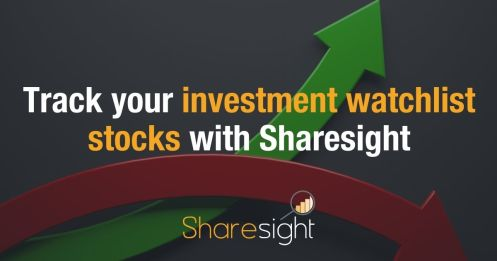 Track your investment watchlist stocks with Sharesight
