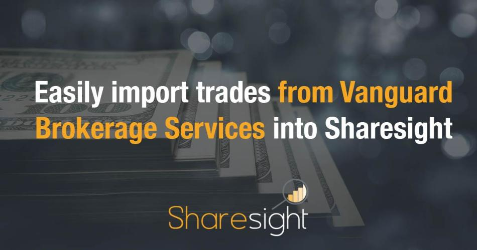 sharesight vanguard brokerage services