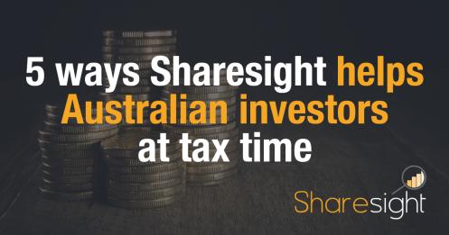 sharesight australian investors tax