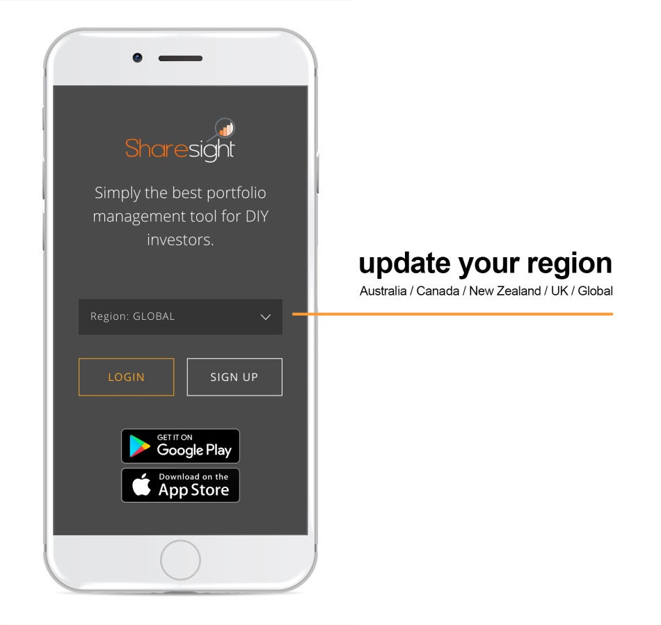 sharesight help website - region