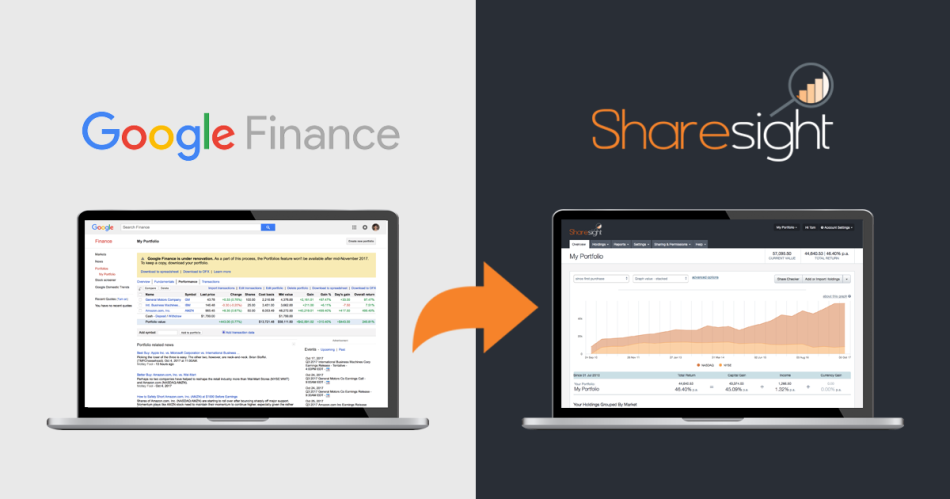 featured - import google finance portfolio to sharesight