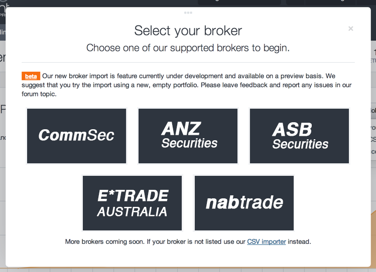 Broker Import by Sharesight