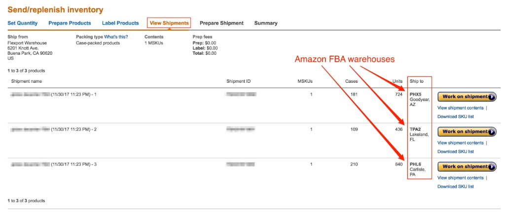 amazon fba seller central