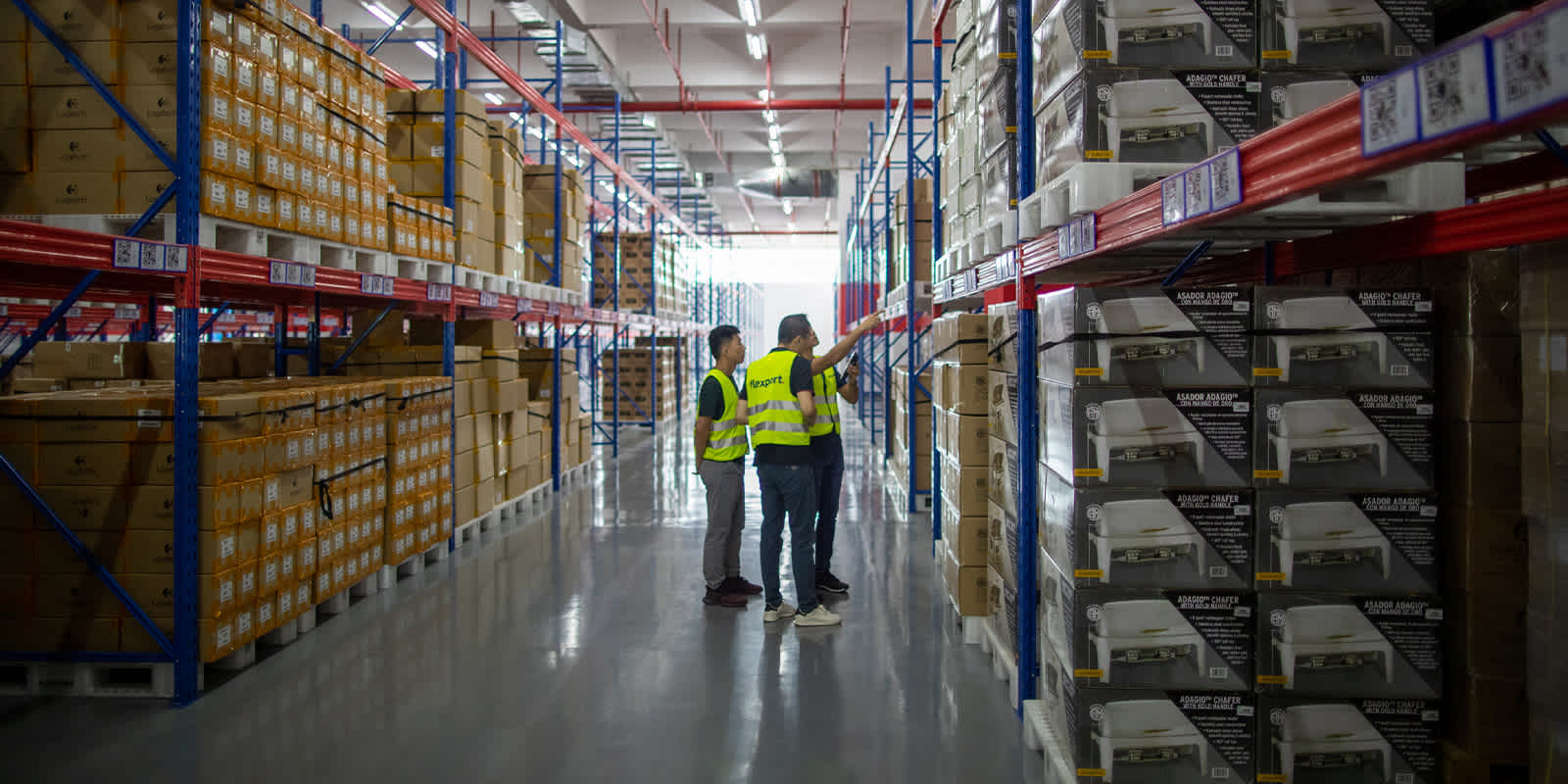 Flexport warehouse workers 5-5-20