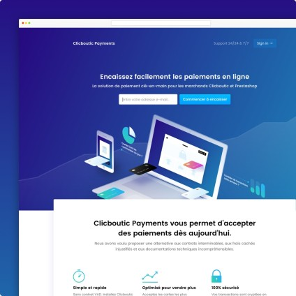 Clicboutic Landing Page Image