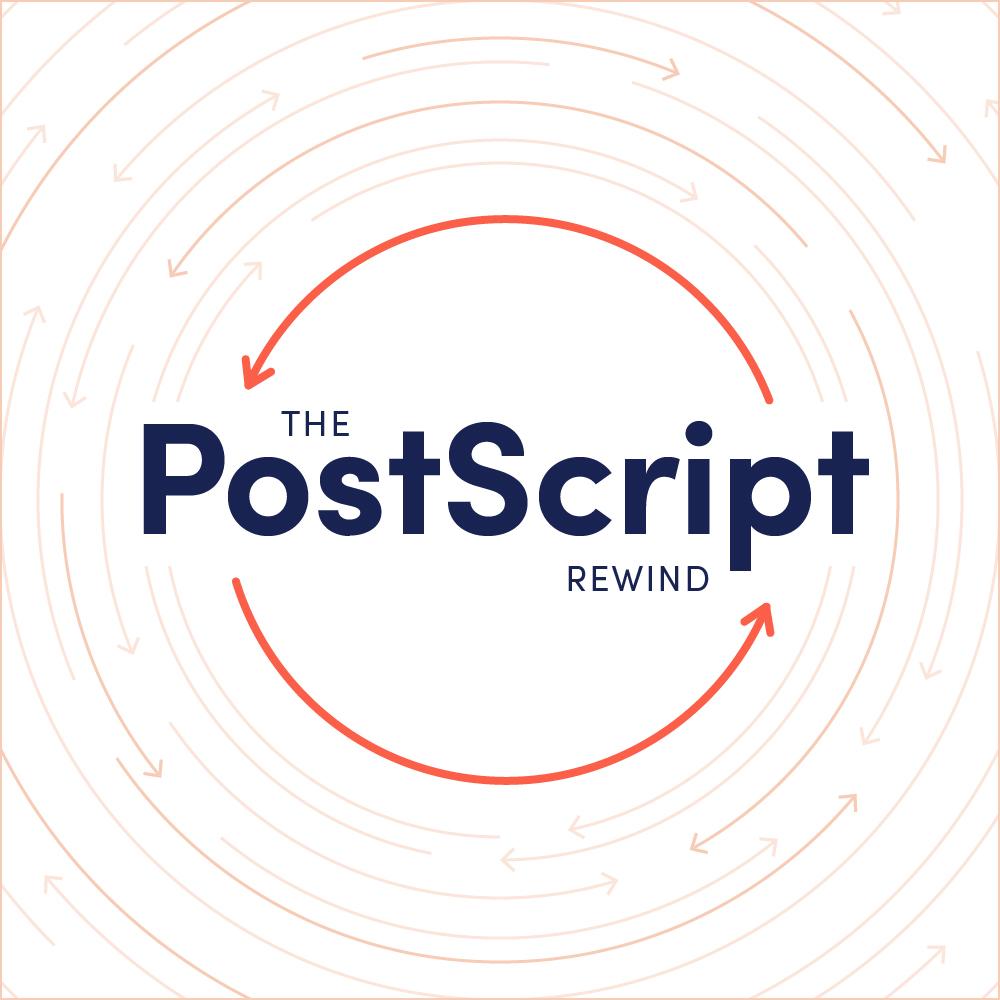 The PostScript Rewind logo