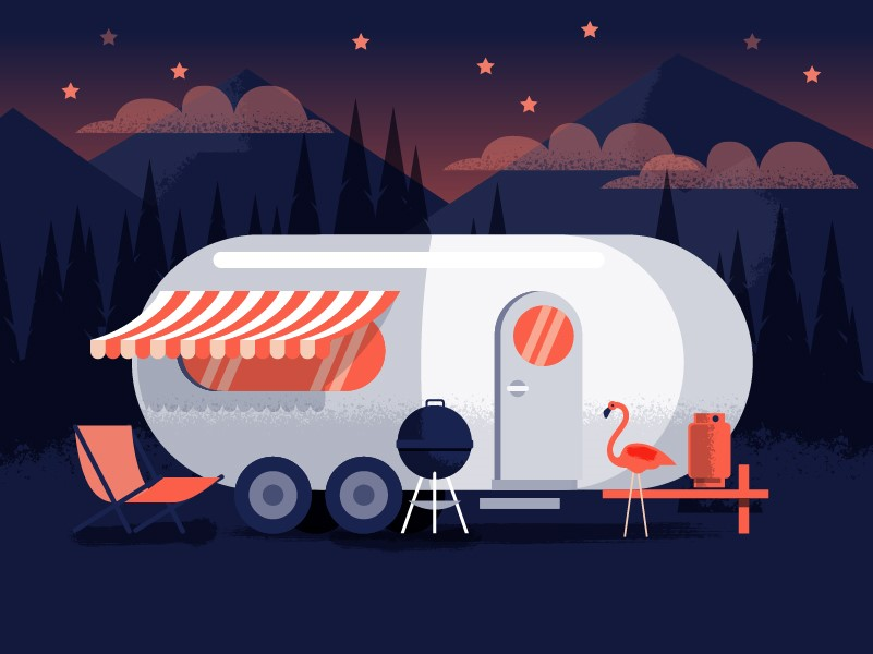 An illustration of an airstream made to look like a medication capsule