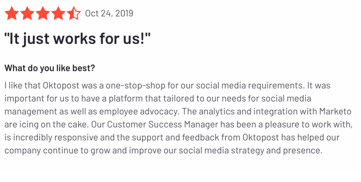 Oktopost reviews