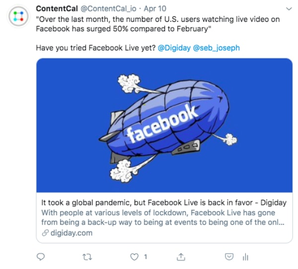 9 ContentCal facebook post