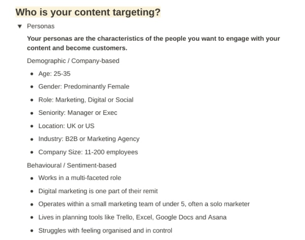 4-min content strategy template