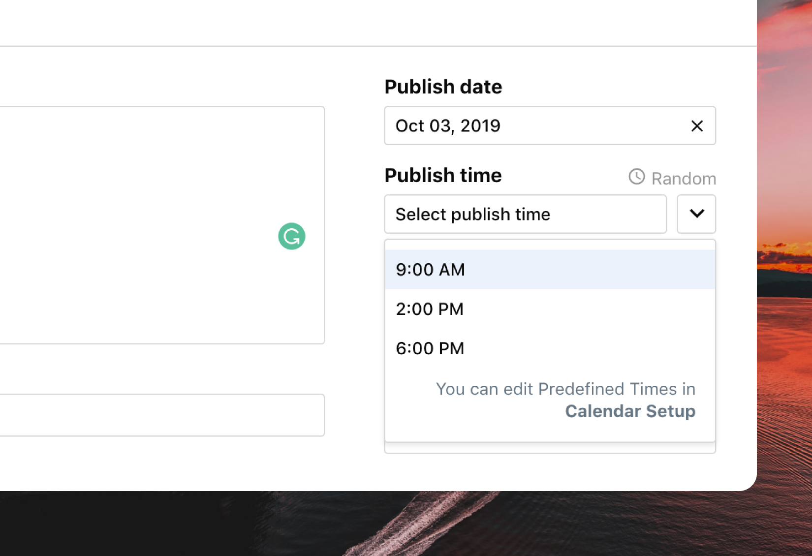 Publish Times ContentCal 2.0