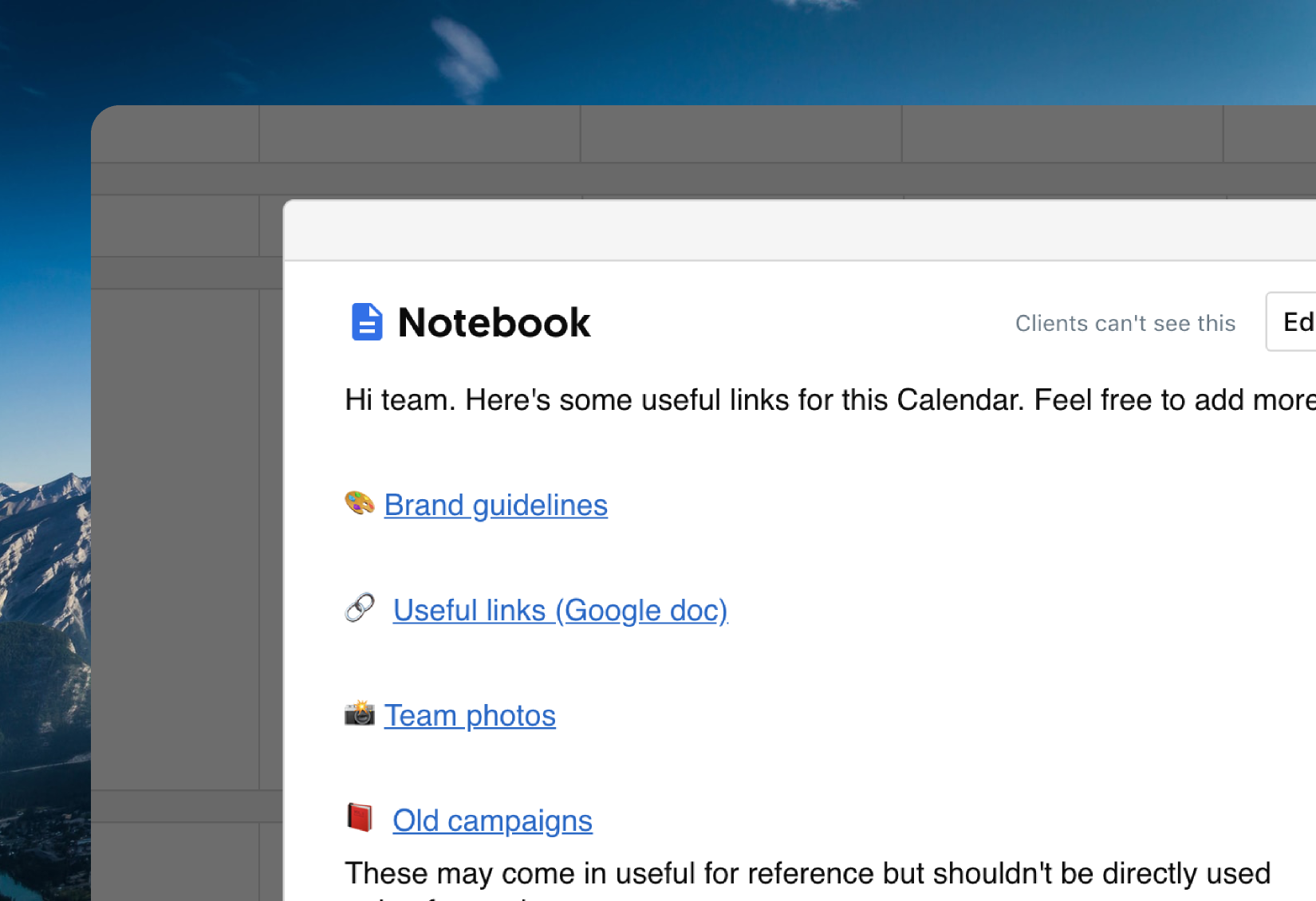 notebook ContentCal 2.0