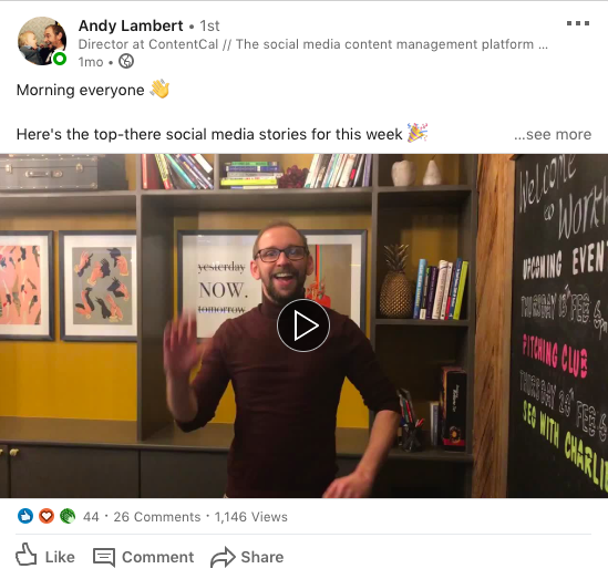 Andy LinkedIn video