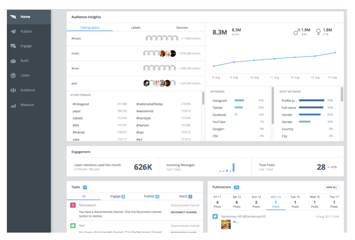 Falcon.io social media analytics