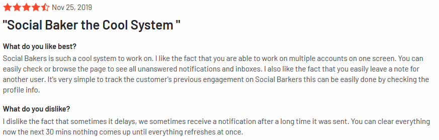 social bakers review