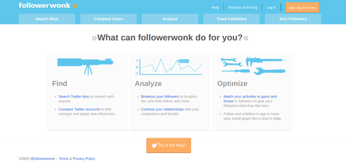 Follower Wonk can help analyse your Twitter audience