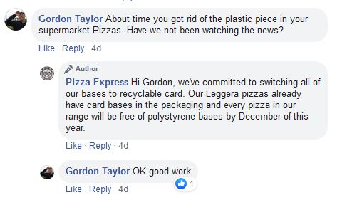 Pizza Express social media support